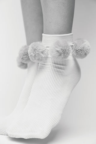 Ebba Pom-pom socks dusty rose