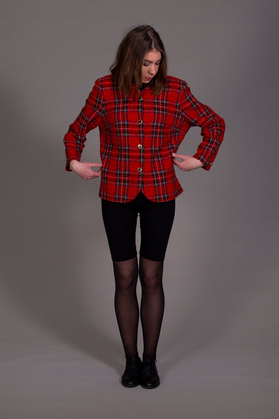 Red checkered jacket