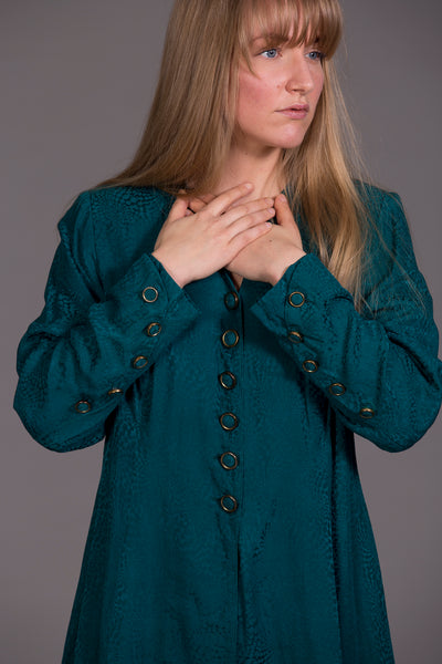 Emerald buttoned dress