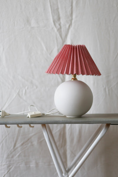 Red vichy lamp