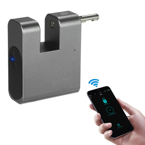 Keyless Lock Waterproof APP Unlock Anti-Theft Padlock Door Luggage Case Locker