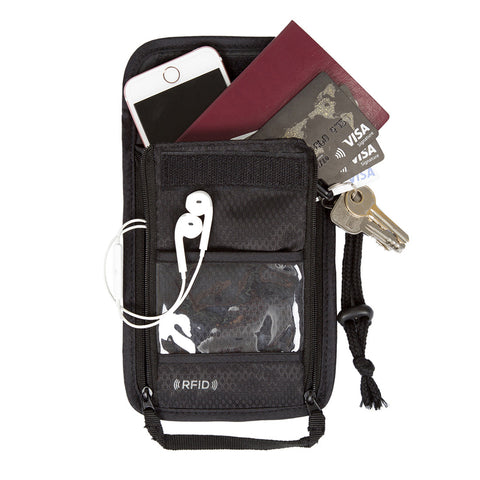 Passport Holder Neck Pouch Ticket Pouch