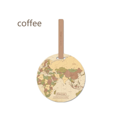 Fashion Creative Luggage Tag Global Map