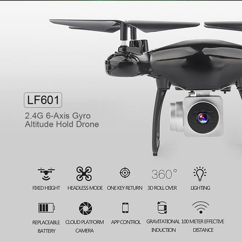 LF601 Wifi FPV 0.3MP Camera 6-Axis Gyro Altitude Hold Headless RC Quadcopter Drone