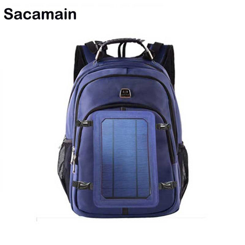 Solar Backpack Laptop Sunlight Charger Backpack Anti-theft USB