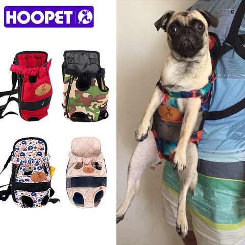 HOOPET Pet Dog Carrier Backpack Mesh Camouflage Outdoor Travel Products Breathable Shoulder Handle Bags for Small Dog Cats