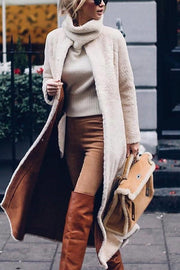 Fashion Solid Color Long Sleeve Coats