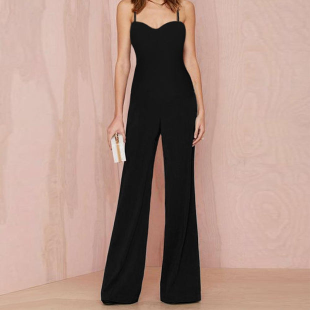 Fashion Spring Summer New Elegant High Waist Jumpsuit