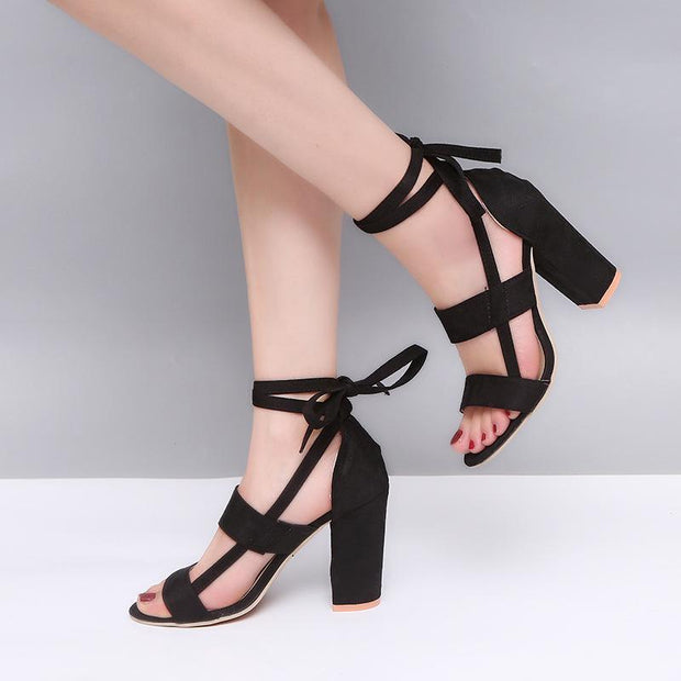 New Wedge Large Size Thick High Heels
