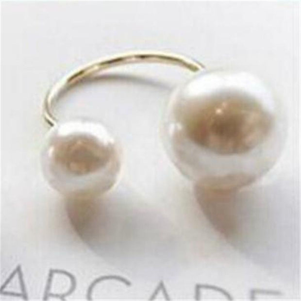 Fashion Jewelry Street Shooting Size Pearl Ring
