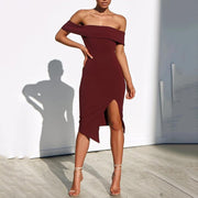 Boat Neck Short Sleeve Bodycon Dress