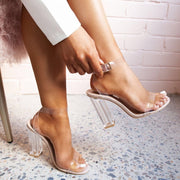 One-Line Buckle High Heels