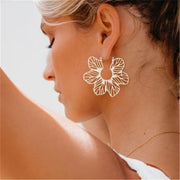 Fashion Vintage Flower Metal Earrings