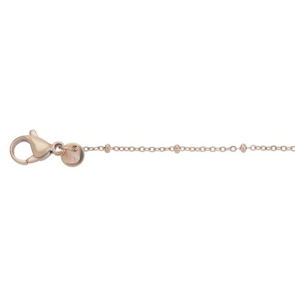 Collier Slim Ball 75+5cm Or Rose - iXXXi