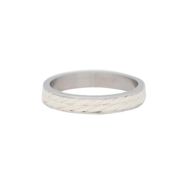 Bague Recouvrante White Rope 4 mm - iXXXi