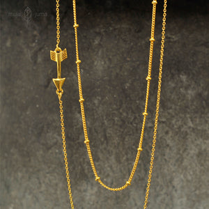 Collier Flêche Or