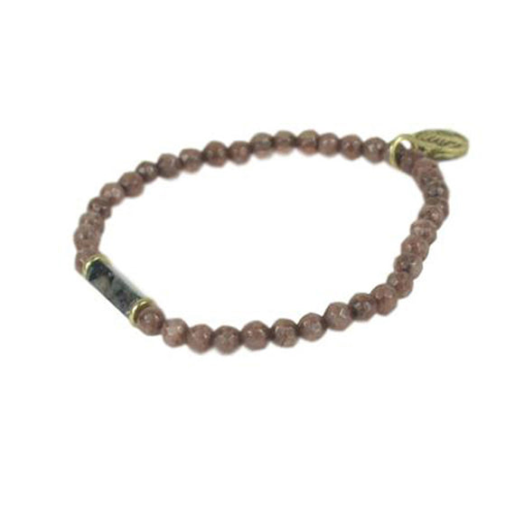 Bracelet Marron et Pierres Naturelles