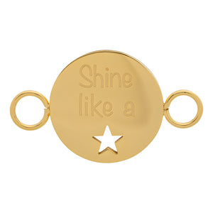 Plaquette Shine Like A Star Or - iXXXi