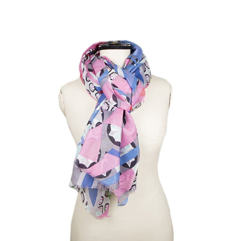 Foulard Dune Rose et Bleu - Lobster – Absolute-Eugénie ee40c01bb91