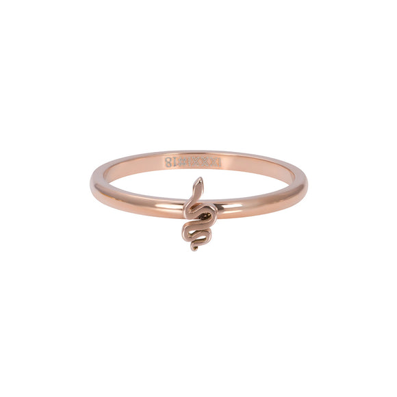 Bague symbole serpent or rose
