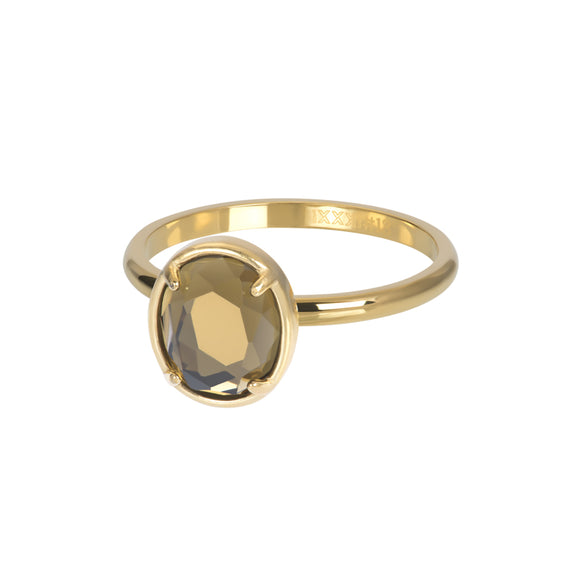 Bague Recouvrante Glam Oval Topaz 2 mm - iXXXi