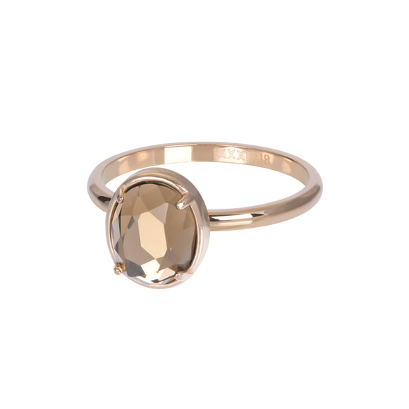 Bague Recouvrante Glam Oval Champagne 2 mm - iXXXi