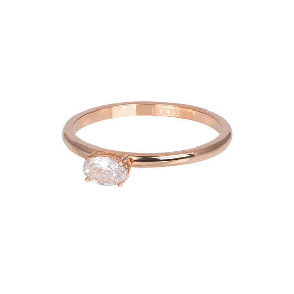 Bague Recouvrante King Or Rose 2 mm - iXXXi