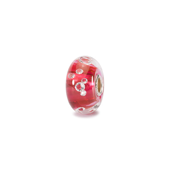 Perle Diamond-Like Rose en Verre avec Zircons - Trollbeads