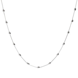 Collier Such A Perfect Day Polished Oval Argent 180 cm - Bianca