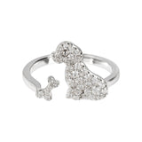 Bague Spice It Up Dog T54 Blanc et Argent - Bianca