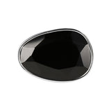 Bague Spice It Up Faceted T52 en Noir et Argent - Bianca