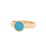 Bague Recouvrante Pierre Turquoise Mat Or 4 mm - iXXXi