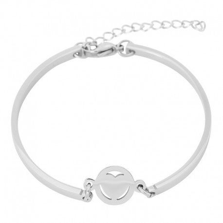 Bracelet Bangle Coeur Argent - iXXXi