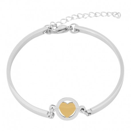 Bracelet Bangle Coeur Or Argent - iXXXi