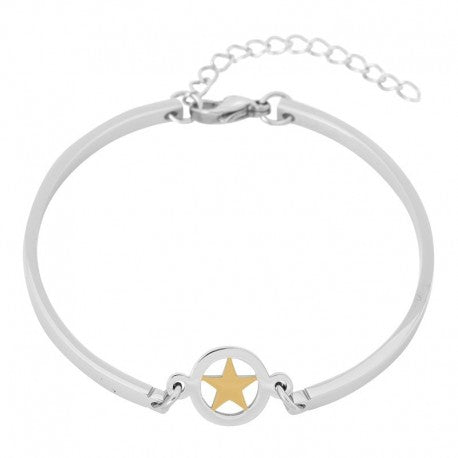 Bracelet Bangle Etoile Or Argent - iXXXi