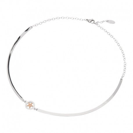 Collier Bangle Etoile Or Rose Argent - iXXXi