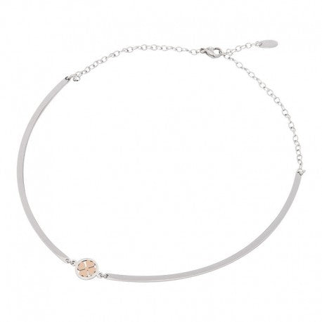 Collier Bangle Trèfle Or Rose Argent - iXXXi