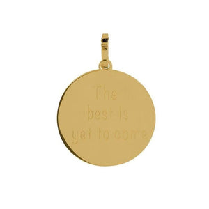 "Pendentif ""The best is yet to come"" Or - iXXXi"