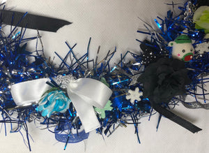 🔵 Blue And Silver Large Christmas Wreath