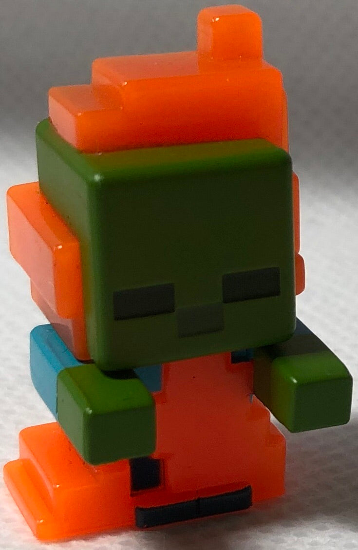 Zombie In Flames Mini Series Minecraft - Demize Collectibles LTD