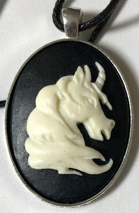Large Cameo Unicorn Necklace - Demize Collectibles LTD