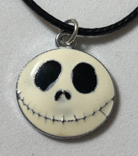 Load image into Gallery viewer, Jack Skellington Waxed Cord Necklace - Demize Collectibles LTD