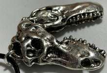 Load image into Gallery viewer, Metal Dinosaur Skull Necklace