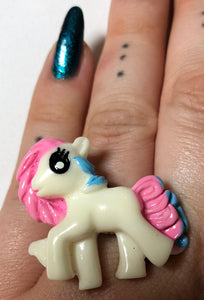 Pink And Blue Pony Ring - Demize Collectibles LTD