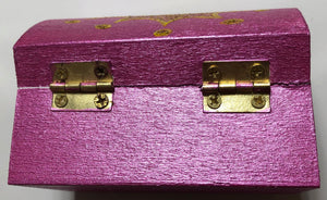 Pink Shimmer Gold Crown Treasure Chest Gift Box - Demize Collectibles LTD