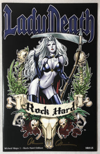 Lady Death Wicked Ways #1 Rock Hard Edition 10/113 Signed - Demize Collectibles LTD