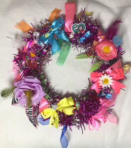 💗 Pink And Silver Sally Wreath