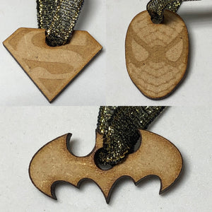 Small Wooden Marvel / DC Decorations