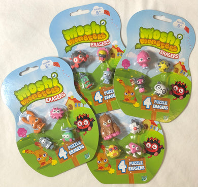 Moshi Monsters Puzzle Erasers