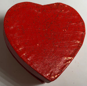 Glitter Red Heart Ring Box Valentines Jewellery Gift - Demize Collectibles LTD